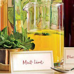 Mint-Lime Champagne Punch | MyRecipes.com