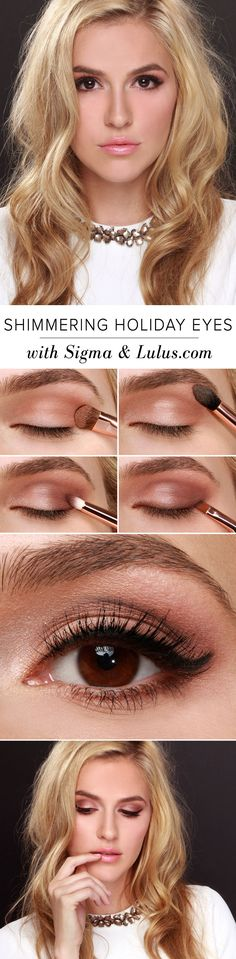 LuLu*s How-to: Shimmering Holiday Eyes with Sigma Beauty & Lulus.com at LuLus.com!