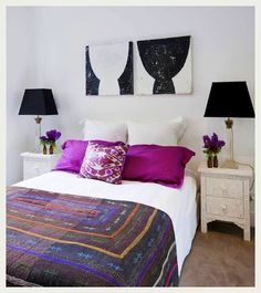 awesome artwork over the bed