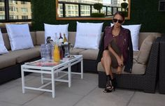 Celebrities Relax at Daily Style Sessions Pixi Rooftop NYFW