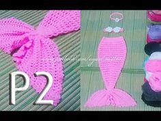 Crochet mermaid tail (0-3 month) - Móc váy đuôi cá cho bé 0-3T P1 - YouTube