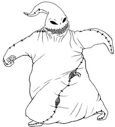 nightmare oogie boogie before christmas coloring pages grown ups