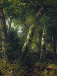 Asher Brown Durand - Forest in the Morning Light