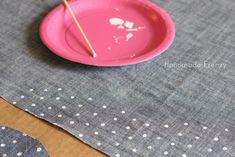 Easter Geranium Dress & DIY Polka Dot Chambray Fabric / Handmade Frenzy
