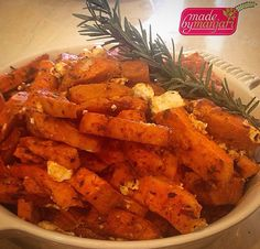 Happy Halloween! Check out these yummy yams baked with feta! Spiced with thyme, rosemary and paprika! More photos from our Halloween to come! #madebymanjari #yam #thyme #paprika #rosemary #feta #tasty #yummy #yvr #instafood #instagood #food #fresh #foodie #foodism #foodcoma #foodstagram #foodphotography #goveg #healthy #healthyeats #healthyfoodshare #cleaneats #colourful #vancouver #vegetarian  #vegetarianvancouver #nutrition