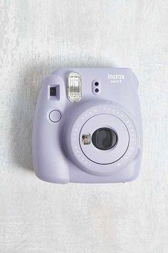 Fujifilm Instax UO Exclusive Mini 9 Lavender Instant Camera - Instax Camera - ideas of Instax Camera. Trending Instax Camera for sales. Polaroid Instax Mini, Fujifilm Instax Mini, Instax Mini Film, Poloroid Camera, Polaroid Camera Colors, Fuji Instax, Accessoires Mini, Accessoires Iphone, Vintage Cameras