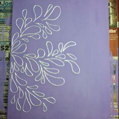 Puff paint on painted canvas