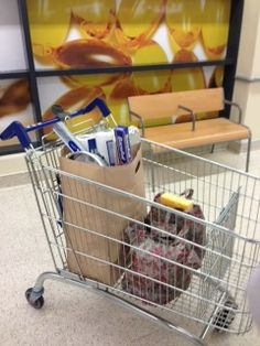 Doing the weekend shop with a Practically Paper Space Saver and two Foldaway Bags - we were stopped in the aisles!!!