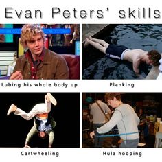 Not only a brilliant actor, he's a man of many talents  #evanpeters #ahs…