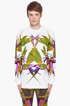 GIVENCHY Birds of Paradise Zip Pullover