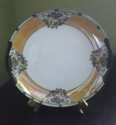 "Noritake Handpainted Lusterware Enamel-Porcelain Morimura Bros 10"" Serving Plate #NoritakePorcelainChina"