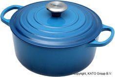 Le Creuset braadpan - cocotte 24cm, 4,2L blauw | Voordelig kopen bij knivesandtools.nl