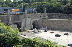 Lincoln Tunnel, NY  Loved this view on the Jersey side & the excitement of going into the city/lu