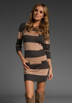 Stripe Knit Dress in Nude at Revolve Clothing - Free Shipping!