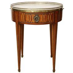 Antique Parquetry Bouillotte Table