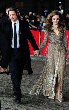 Long sleeve dress- another Angelina Jolie