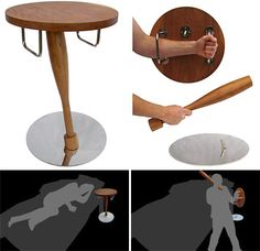 At first I didn't know to which board to pin this, but I think this one should work. As you can see, it's a table that, when taken apart, turns into a wooden shield and a club. I don't even want this to actually use it, I want it just because it's awesome.