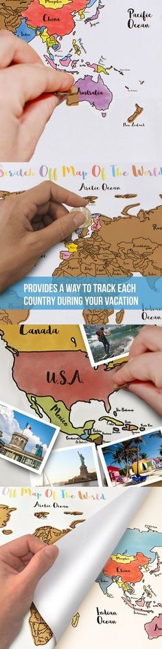 Other travel maps 164807 scratch wall map poster travel tracker 50 other travel maps 164807 scratch wall map poster travel tracker 50 usa and world country flags pins 17 x24 buy it now only 3046 on ebay gumiabroncs Gallery