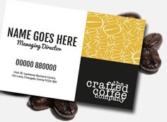Business card design idea for the local micro roaster company.