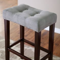 Saddle Stool   Grey Lends Casual Comfort And Contemporary Sophistication To  Your Tall Standing Table. At 32 Inches Tall, This.