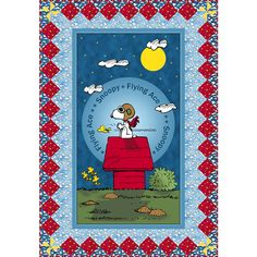 Snoopy The Flying Ace Panel Quilt Pattern
