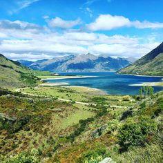 Lake Hawea, New Zealand.  Instagram photo by @downsouthnz • #lakehawea