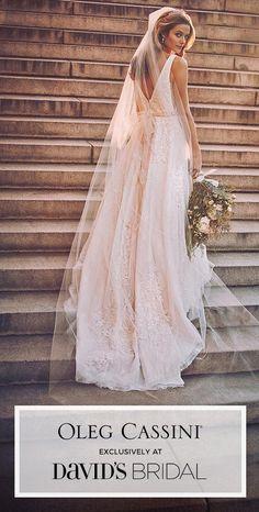 Oleg Cassini's gorgeous wedding designs, only at David's Bridal.