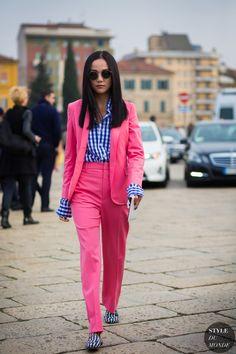 Yoyo Cao Street Style Street Fashion Streetsnaps by STYLEDUMONDE Street Style…
