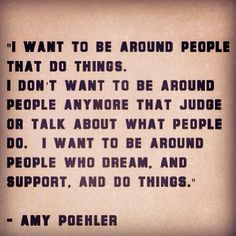 There are doers in this world and there are people who talk/mock the doers. The doers find peace and contentment...