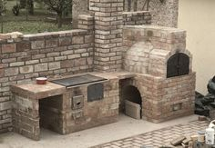 """Get terrific pointers on """"outdoor kitchen countertops grill area"""". They are actually offered for you on our site. Outdoor Kitchen Countertops, Patio Kitchen, Summer Kitchen, Outdoor Kitchen Design, Outdoor Pizza Oven Kits, Outdoor Cooking, Brick Cladding, Brick Bbq, Outdoor Stove"""