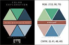 """Eva Maria Keiser Designs: Explore Color:  """"Dark Moderate Red"""""""