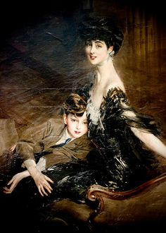 Consuelo Vanderbilt & Her Son by amy allcock, via Flickr