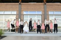 Wedding party pose. #jump #awesome