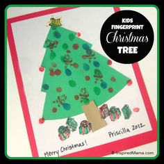 Fingerprint Christmas Tree Craft at B-Inspired Mama 2