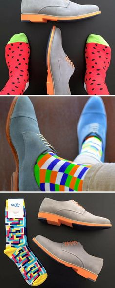 No one ever remembers the person with boring socks.