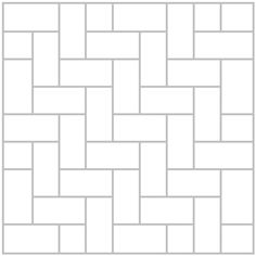 Herringbone tile design, pattern, layout. Great diagram to follow. WE used 12 by 24 in tile.