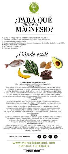 Magnesio  #Nutrición y #Salud YG > nutricionysaludyg.com