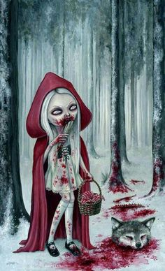little red riding hood got her own back, would be nice as a tattoo maybe