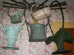 South Porch Antiques: more FUN WITH FUNERAL BASKETS!