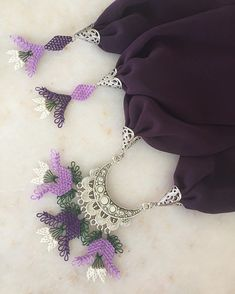 Please dm for order and price info. (My model .- 💜💜💜 Sipariş ve fiyat bilgisi için 👉🏻 dm lütfen. (Modellerimiz … 💜💜💜 For order and price info please ve dm. (Our models can be adjusted to desired colors. Diy Jewelry, Free Pattern, Crochet Necklace, Diamond, Crafts, Models, Thoughts, Colors, Instagram