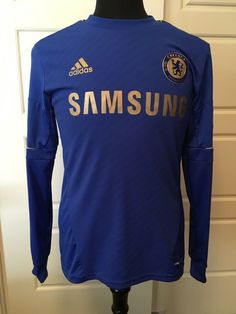 new style e2867 53cad Adidas Chelsea Fernando Torres 9 Samsung Jersey Long Sleeve Blue Size M   adidas  Chelsea