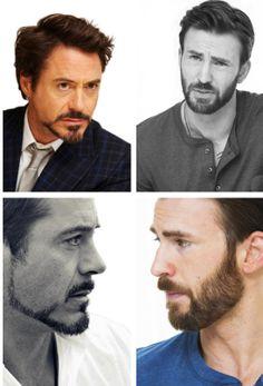Robert Downey Jr. and Chris Evans