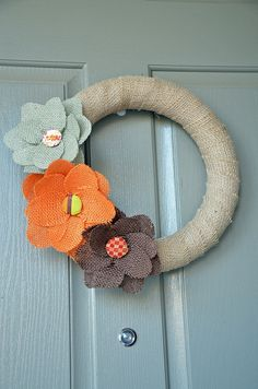 DIY Burlap Wreath by Seeded at the Table, via Flickr