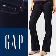 Gap Sexy Boots jeans. Gap 1969 sexy boots in excellent condition. It shows of NO sign of wear. Dark wash color. Size: 29/8L (long). And I have also 29/8R (regular). GAP Jeans