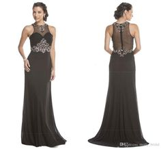 2017 Sexy Black Mermaid Elegant Dresses Evening Gowns Cap Sleeve Jewel Crystal Beading See Though Back Dresses Evening Wear Runway Fashion Teal Evening Dress Topshop Evening Dresses From Molly_bridal, $89.77| Dhgate.Com