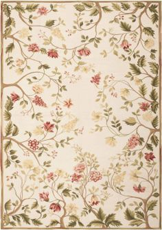 Modern Aubusson Rug 44701 Detail/Large View - By Nazmiyal