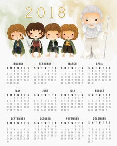 Drop by and pick up your Free Printable 2018 Lord Of The Rings Calendar! It truly is a magical printable! So many people love this tale of fantasy so ENJOY!