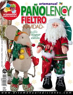 ARTEMANUAL EDICIONES - REVISTA CULTURAL PARA LA ENSEÑANZA DE LAS MANUALIDADES - Book Crafts, Craft Books, Felt Toys, Creando Ideas, Christmas Ornaments, Holiday Decor, Diy, Embellishments, Baby Dolls
