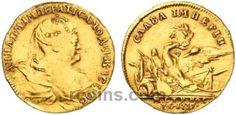 Жетон 1739 года  Материал чеканки монеты: Золото(Au) Гурт: гладкий Редкость по каталогу Биткина: (R1) Состояние данного экземпляра: XF(ExtraFine) Стоимость монеты Жетон 1739 года:   8100 USD