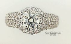 Diamond ring for their anniversary custom created by Dale Robertson Jewelry.